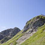 am ruecken der sulzspitze tannheimer berge tirol